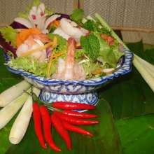 T4 - Salade crevettes citronnelle
